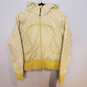 Lululemon Yellow Scuba Hoodie Light Cotton Fleece